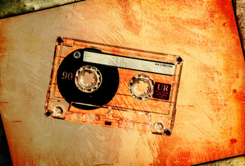 grungy blank tape
