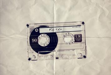 retro paper cassette