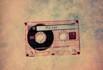 textured retro cassette tape
