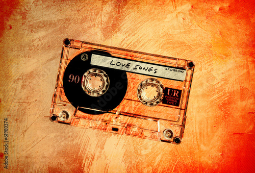 grungy orange love tape