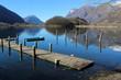 molo al lago di Piano (Val Menaggio)