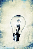 lightbulb grunge background