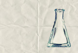 glass flask paper