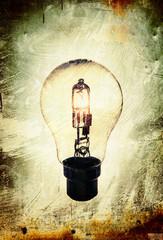 grunge household lightbulb