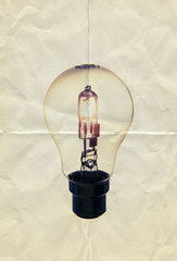 paper lightbulb