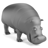 realistic 3d render of hippo