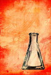 grungy flask