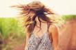 Leinwanddruck Bild - Gorgeous Romantic Girl Outdoors. Summer Lifestyle