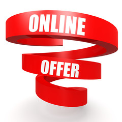 Online offer red helix banner