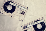 music cassettes paper backdrop
