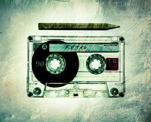 vintage grunge cassette