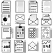 Statistics and analytics file icons. Vector illustration.