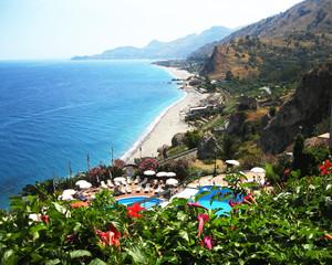 Landscape. Sicily. Eastern coast