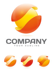 Abstract Company Logo - Sphere in Protective Shell