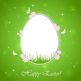 Easter background with egg
