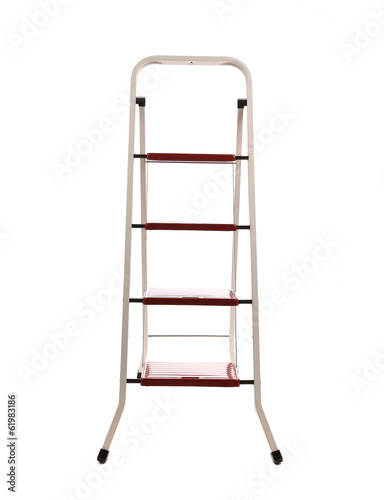 Close up of stepladder.