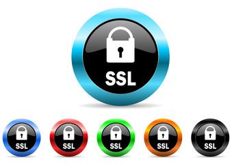 ssl icon vector set