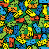 color domino seamless pattern