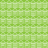 white houses icon of seamless pattern