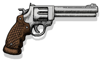 Hand drawn pistol