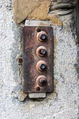rusty old door bell