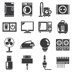 electronics, household icons