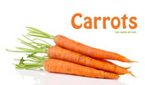 Carrots, isolated on white