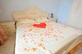 Petal Heart on Bed