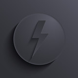 Vector modern dark circle icon. Eps10