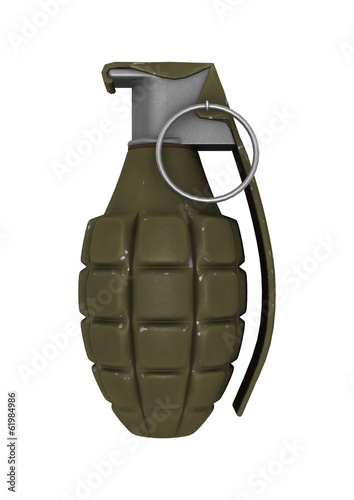 Pineapple Grenade on White