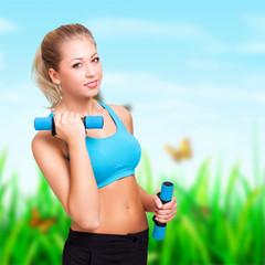 junge attraktive Frau beim Sport