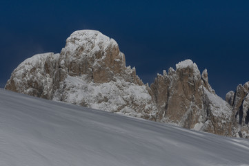 Snow and Peaks in Dolomiti