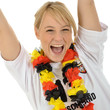 Fan der Deutschen Nationalmannschaft jubelt