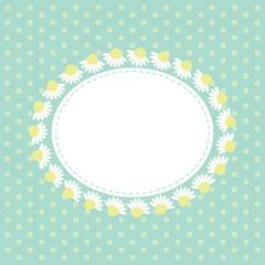 White daisy frame 2