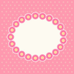 Pink daisies frame