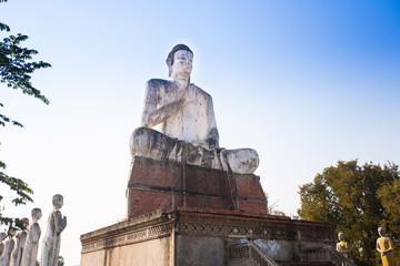 The giant Buddha in Wat Ek Phnom  temple near the Battambang cit