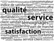"Nuage de Tags ""SATISFACTION-SERVICE-QUALITE"" (clients qualité)"
