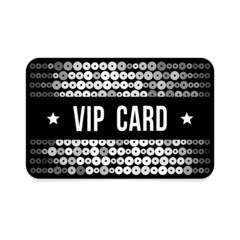 Black VIP card with glitter pattern, vector illustration
