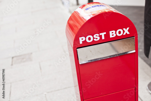 Post box in a street