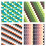 Set of colorful seamless vector backgrounds
