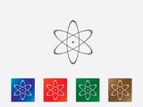 Atom icons illustration