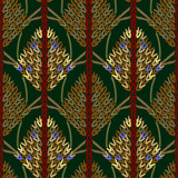 Colored knitted openwork background pattern