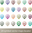 24 services icon set locator