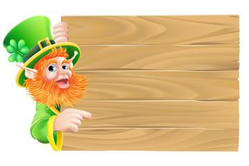 Leprechaun Wooden Sign