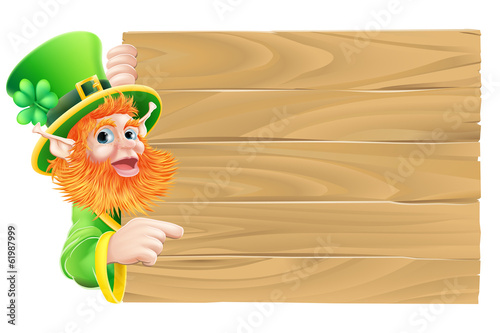 Leprechaun Wooden Sign