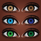 Variants human eye