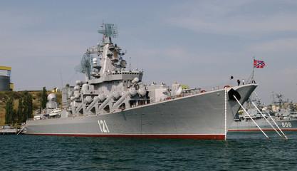 Cruiser Moskva in Sevastopol