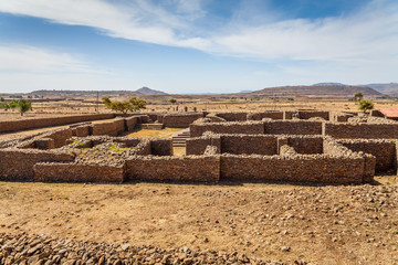 Dungur - Ruins of the palace of the Queen Sheba at Axum in Ethio
