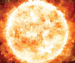 Background texture triangle geometry Sun star birth of galaxy