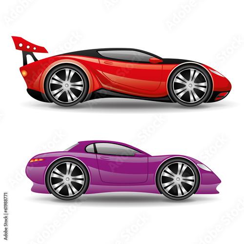 Foto op Canvas Snelle auto s Sports cars.